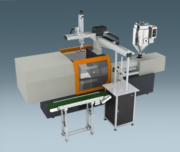Top Entry In Mold Labeling Robots System SIT